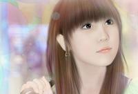 photoshop打造美女照片转古典淡粉色手绘效果