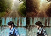 数码照片惊艳的冷色复古效果调色动作