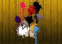油漆喷溅和流淌效果PS笔刷