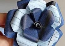 卡纸折花的方法图解 手工卡纸花朵的做法