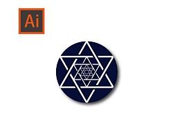 Ai基础教程/如何绘制炫酷六芒星