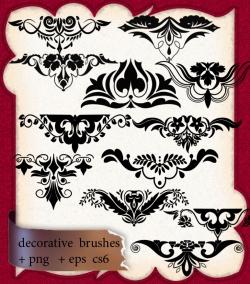 欧式时尚对称花纹装饰PS笔刷