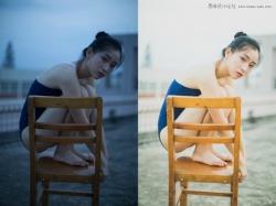 Photoshop调出美女人像照片甜美日系暖色调