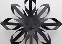 纸条折纸雪花的方法图解 立体雪花的折法步骤