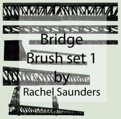 桥梁支架装饰PS笔刷