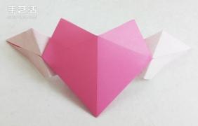 会飞的心折纸图解教程 飞翔的爱心折法步骤