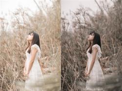 Photoshop结合LR调出外景人像秋季暖色效果