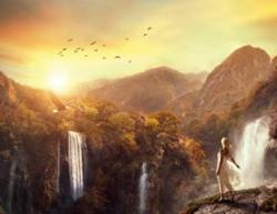Photoshop合成梦幻的仙境场景效果