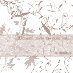 涂鸦花纹装饰图案PS笔刷