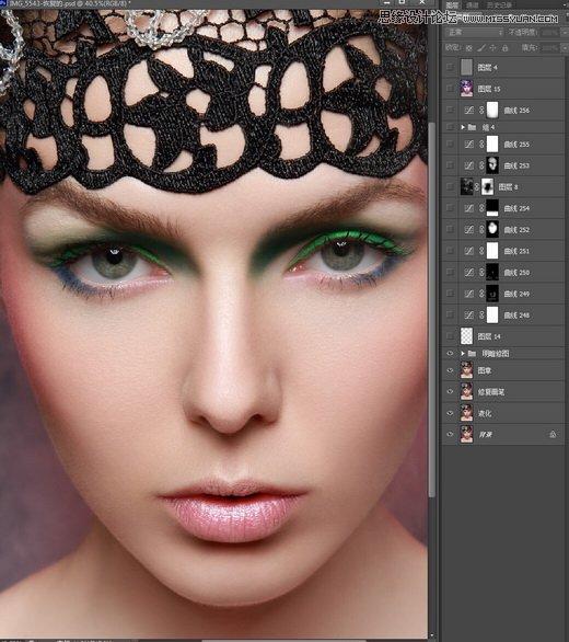 photoshop详细解析人像照片后期商业精修过程