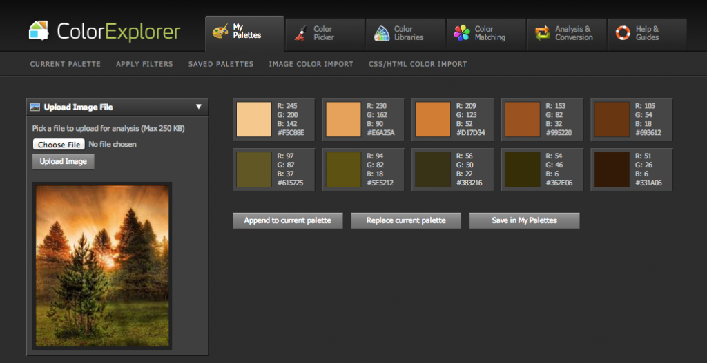 colorexplorerpalette
