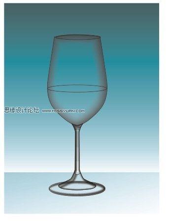 CorelDRAW绘制质感的高脚玻璃杯,PS教程,