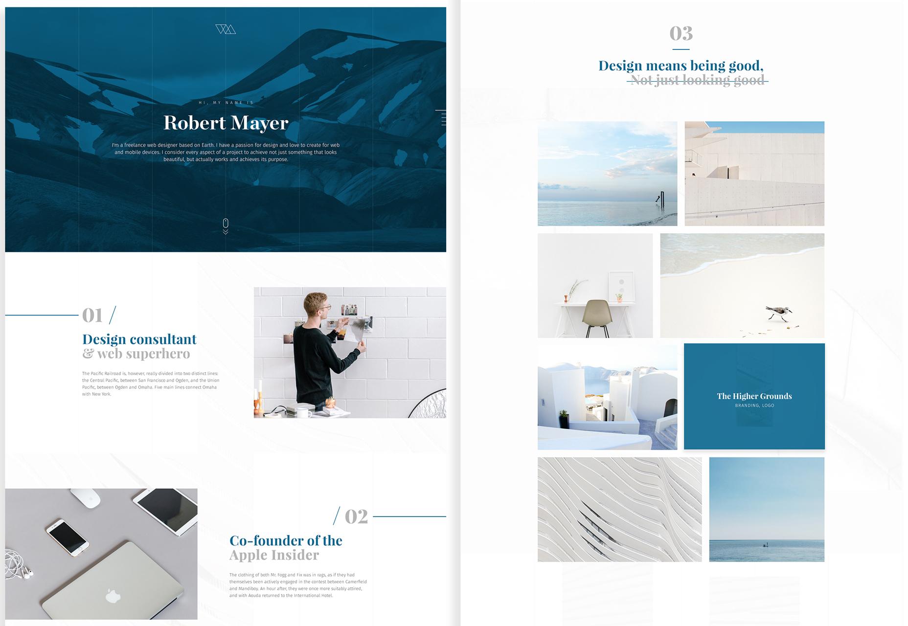 minimal-portfolio-psd-template