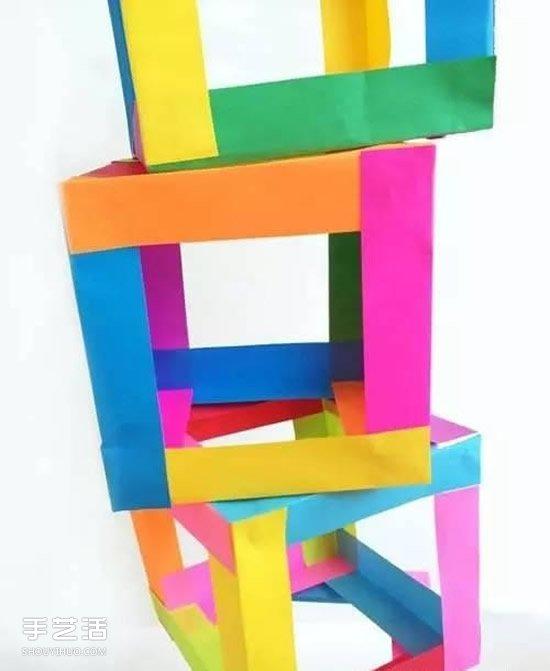 幼儿立体方块制作方法 漂亮纸立方体DIY图解 -