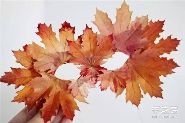 幼儿园树叶面具手工制作 简单叶子面具的做法 -
