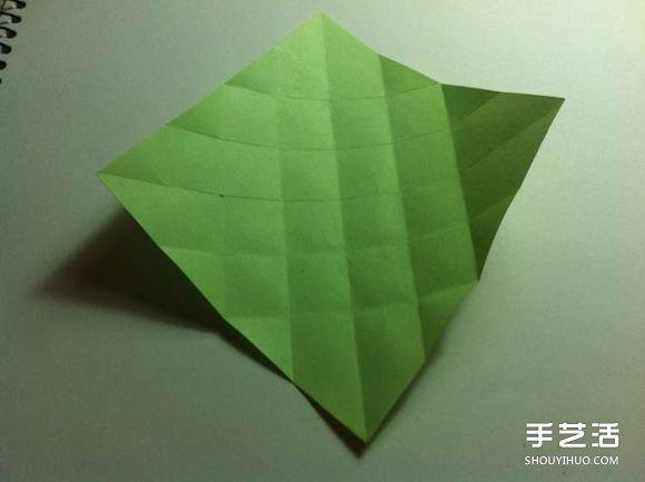 一张纸折四叶草图解 创意四叶草的折法步骤 -