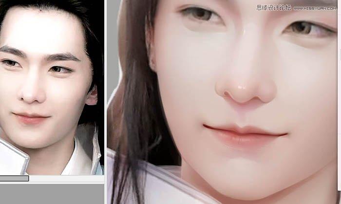 photoshop给古装电视人物转唯美手绘效果,ps教程,素材中国网