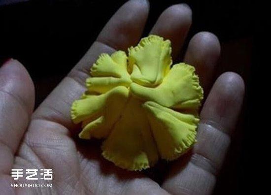 母亲节康乃馨花制作 橡皮泥做康乃馨的教程 -