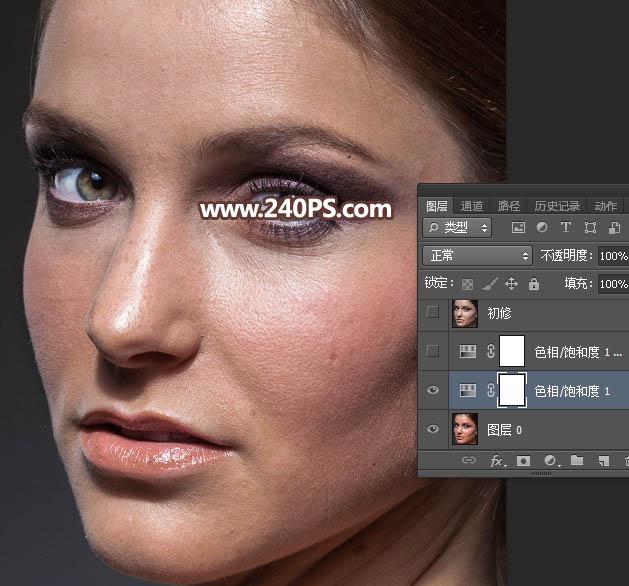 打开原图素材,先分析一下人物肤色,总体有点偏红,皮肤细节不是很细腻.