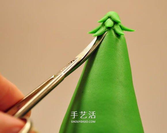 简单粘土圣诞树的做法 DIY超轻粘土圣诞树图解 -