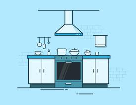 Illustrator绘制扁平化风格的厨