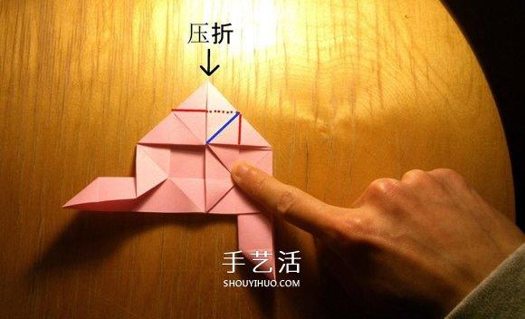 玫瑰花的折法简单易学 简单好看玫瑰花折纸 -