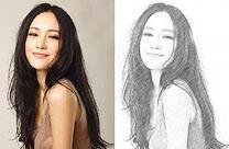 如何用PS快速把人物图片转为黑白素描效果
