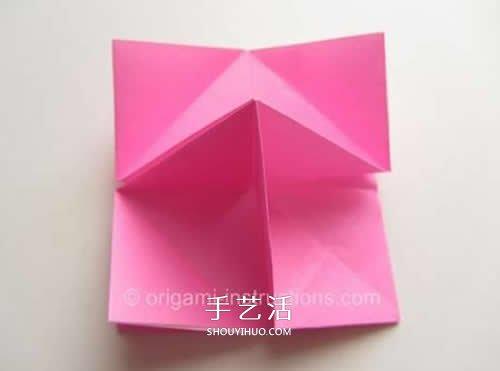 旋转玫瑰怎么折图解 手工旋转的玫瑰花折纸 -
