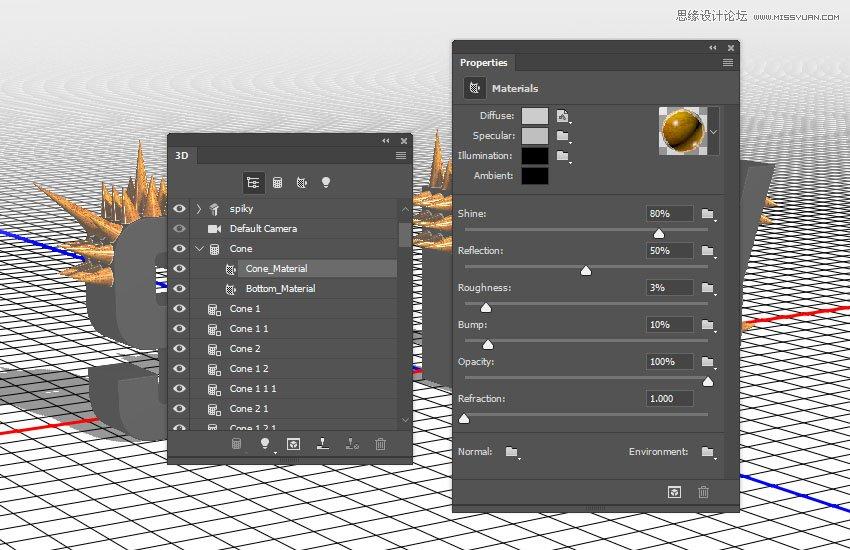 Photoshop制作金属质感的3D立体字【英】,PS教程,素材中国网