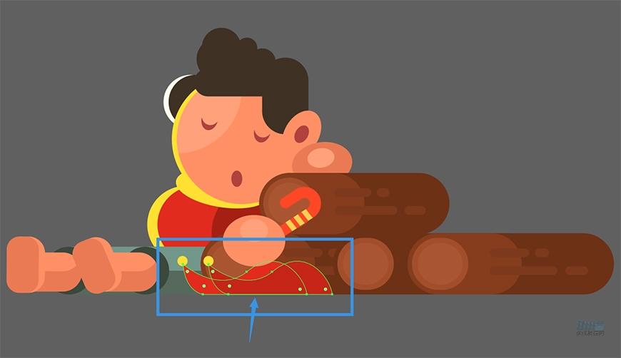 圣诞插画:AI绘制简约风格圣诞节插画,PS教程,素材中国网